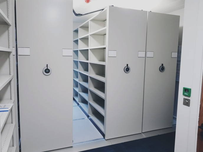 New Generation Compactus Dynamic II Mobile Shelving fitout for Whitney Moore Law Firm Dublin
