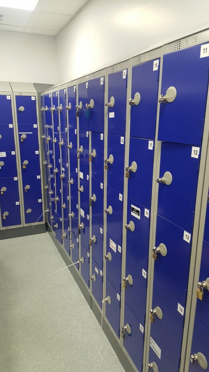 Large Locker fitout for Abbott Ireland