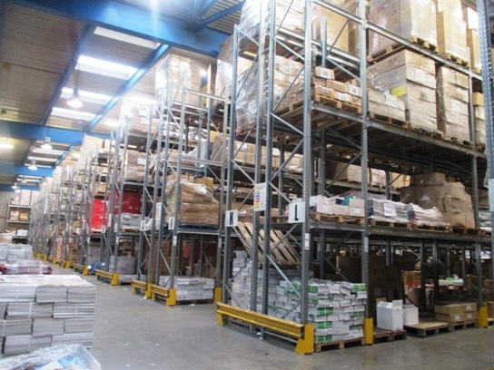 Warehouse Pallet Racking fitout for Newspread, Dublin
